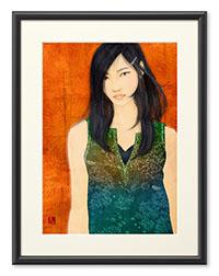 「黒髪美人。」日本画タッチ女性画シリーズ。