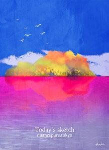 「紅葉の孤島。」No.A_16505